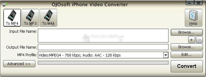 Pantallazo OJOsoft iPhone Video Converter