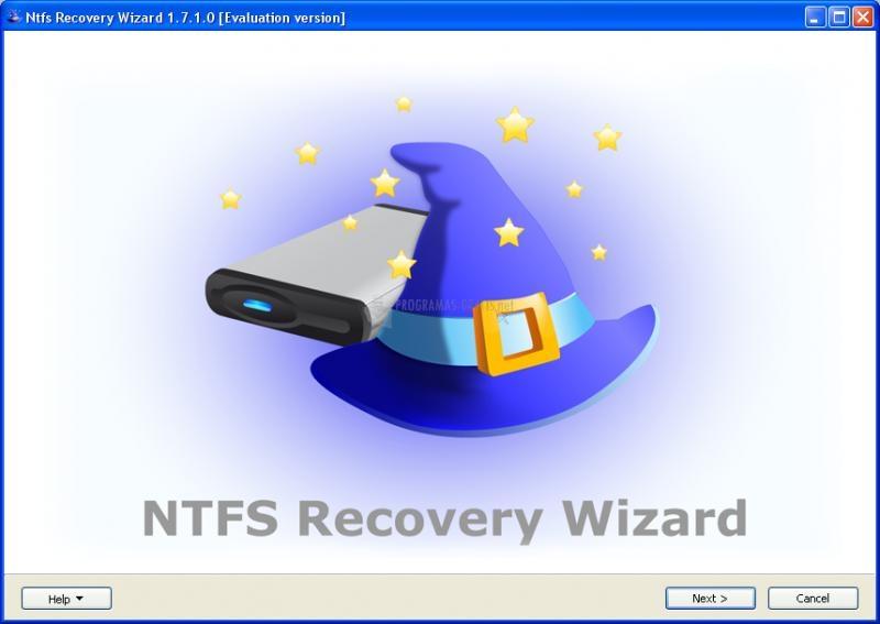 Pantallazo NTFS Recovery Wizard