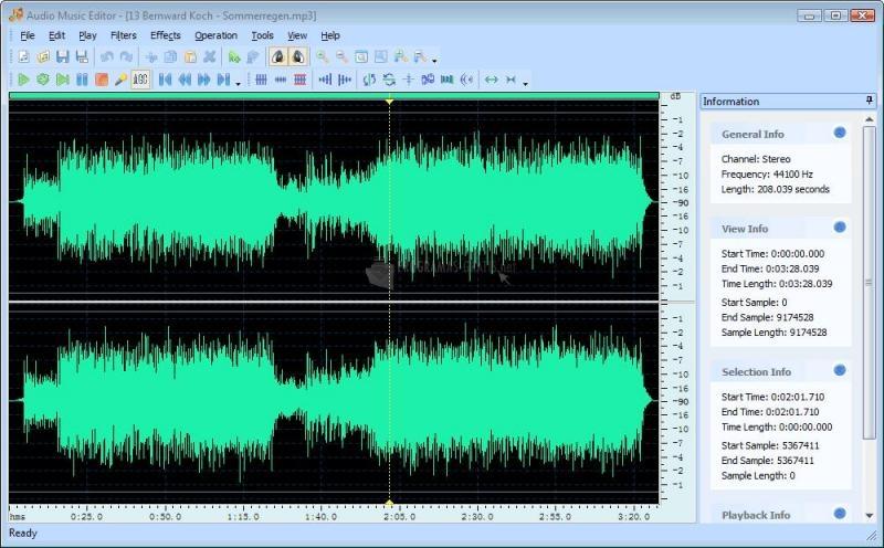 Pantallazo SoftRM Audio Music Editor