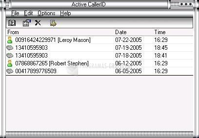 Pantallazo Active CallerID