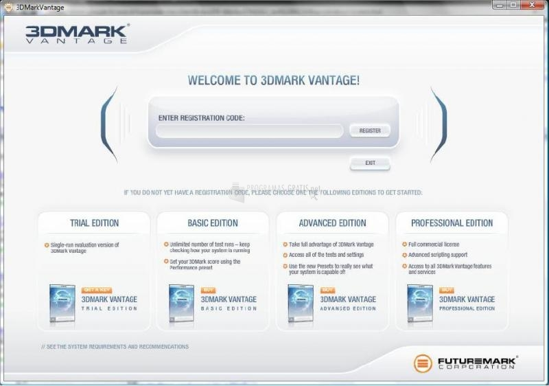 Pantallazo 3DMark Vantage Basic