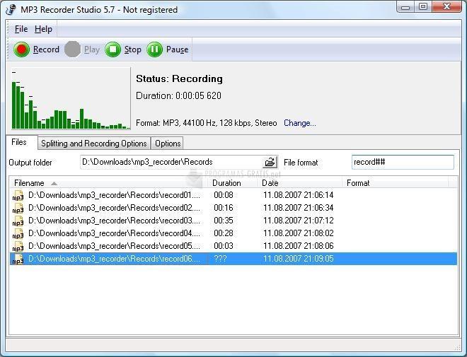Pantallazo MP3 Recorder Studio