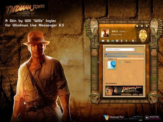 Pantallazo Skin MSN Indiana Jones