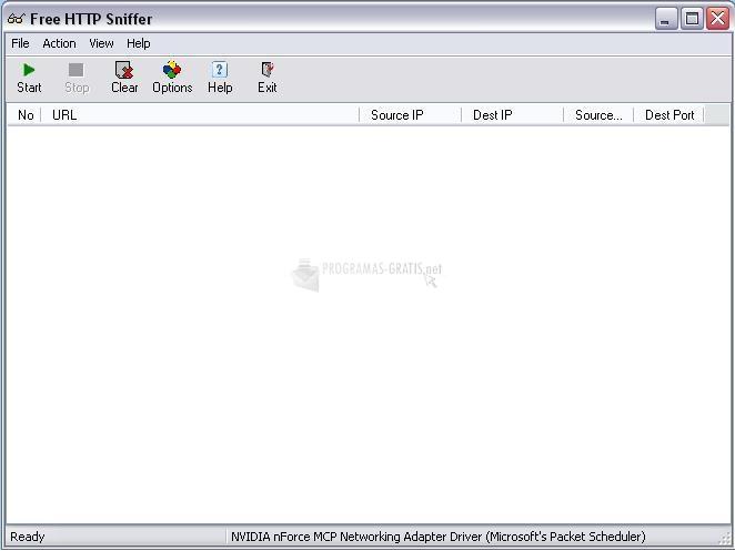 Pantallazo Free HTTP Sniffer