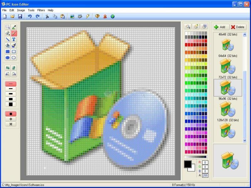 Pantallazo PC Icon Editor