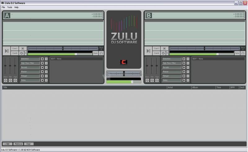 Pantallazo Zulu DJ Audio Software