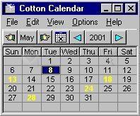 Pantallazo Cotton Calendar