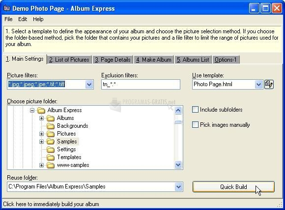 Pantallazo Album Express