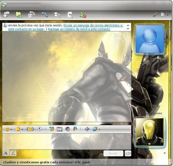 Pantallazo Haze MSN Kit