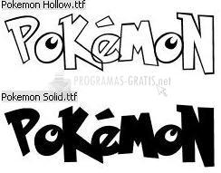 Pantallazo Pokemon Font
