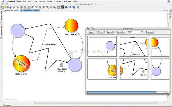 Pantallazo yEd Graph Editor
