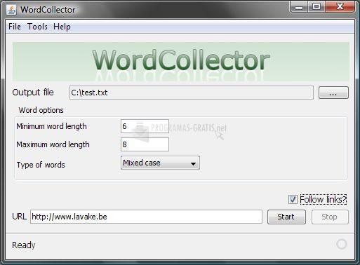 Pantallazo WordCollector