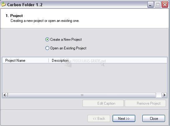 Pantallazo Carbon Folder