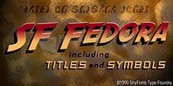 Pantallazo SF Fedora Font