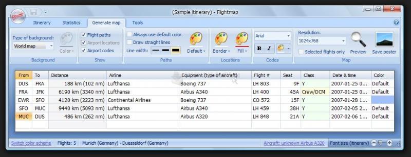Pantallazo Flightmap