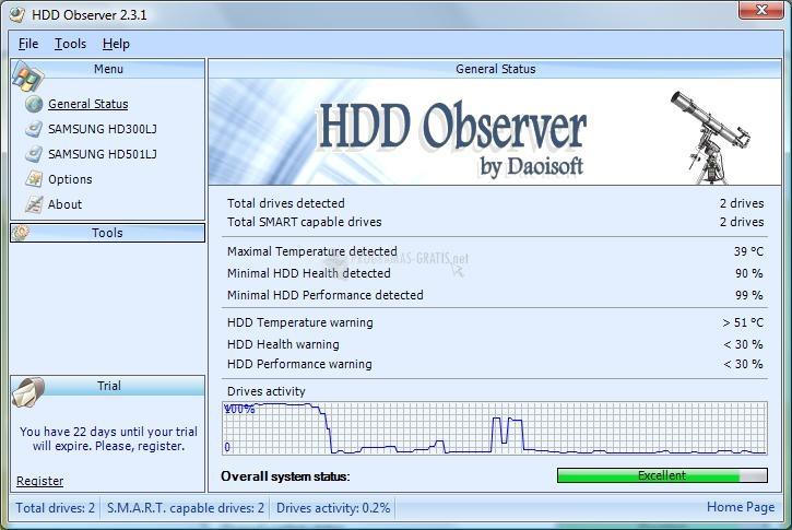 Pantallazo HDD Observer