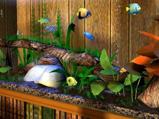 Pantallazo 3D Bungalow Aquarium Screensaver