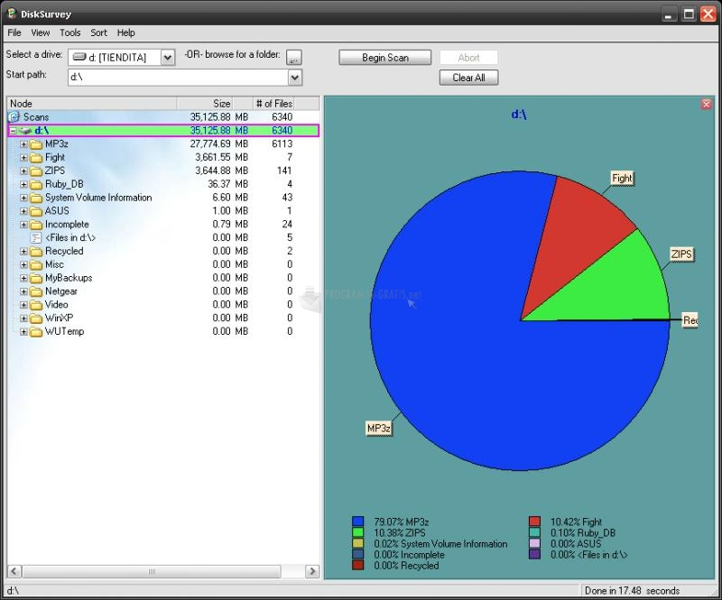 Pantallazo Disk Survey