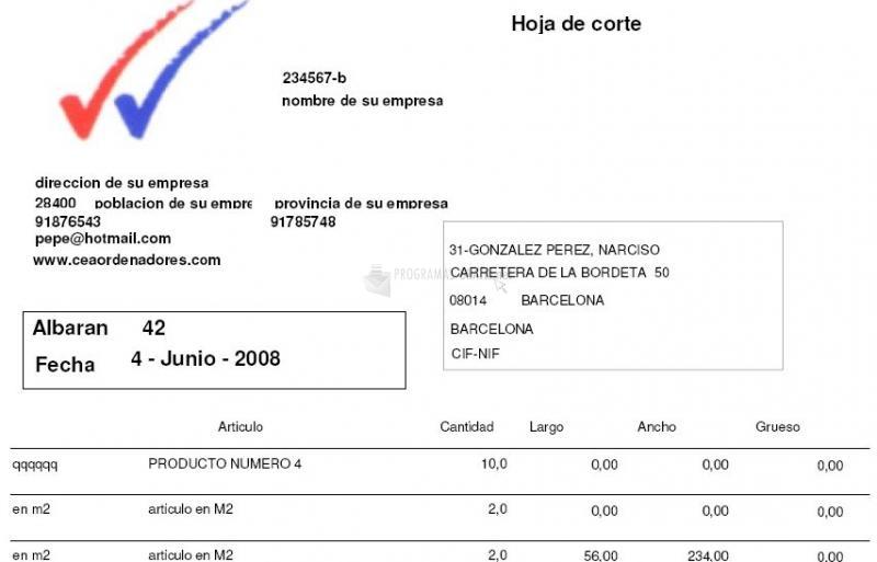 Pantallazo Cea Carpinterías 3000