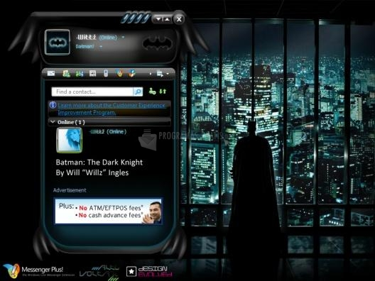 Pantallazo Skin MSN The Dark Knight