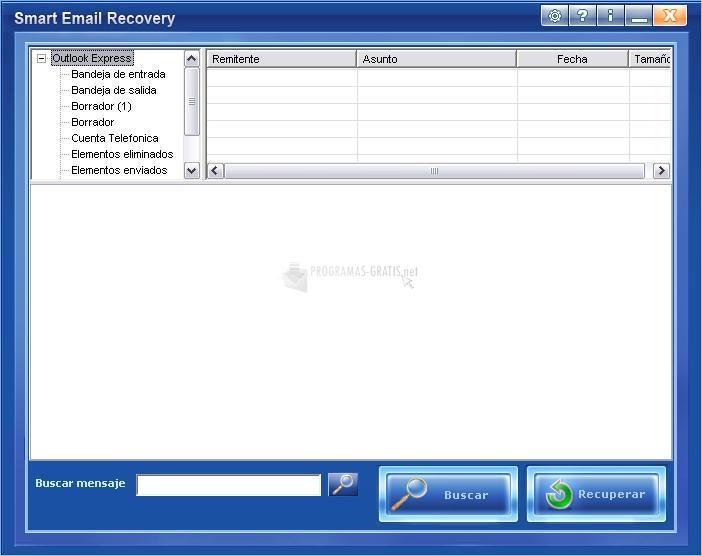 Pantallazo Smart EMail Recovery