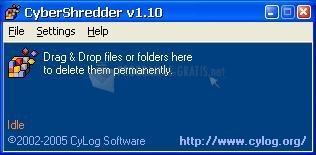 Pantallazo Cyber Shredder