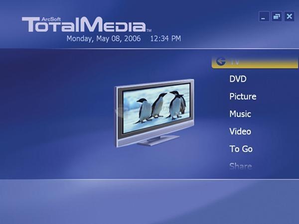 Pantallazo ArcSoft Total Media Theatre
