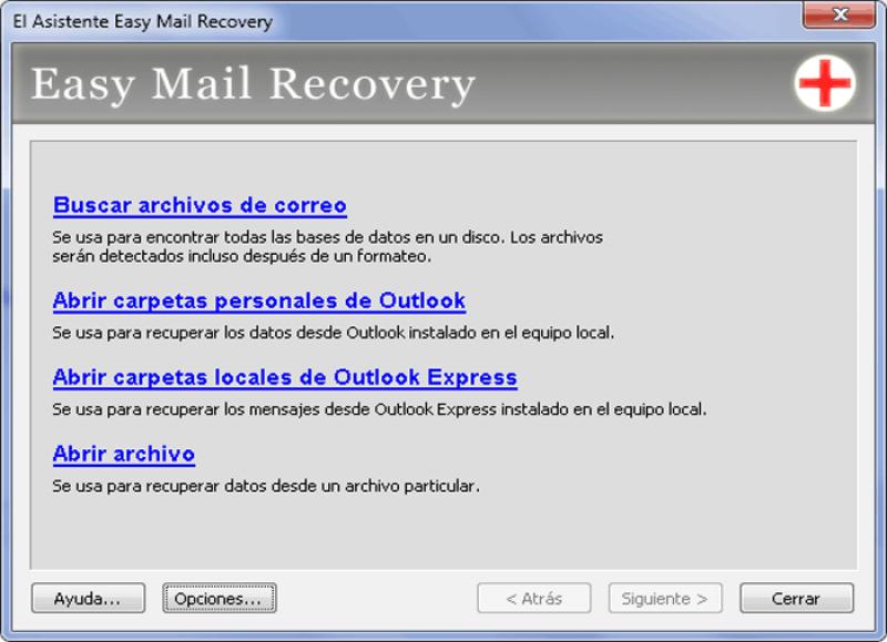 Pantallazo Easy Mail Recovery