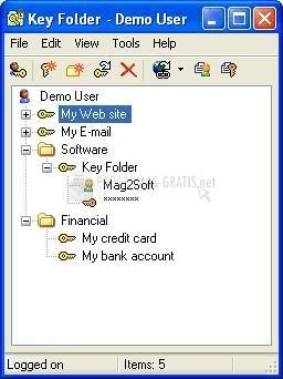 Pantallazo Key Folder