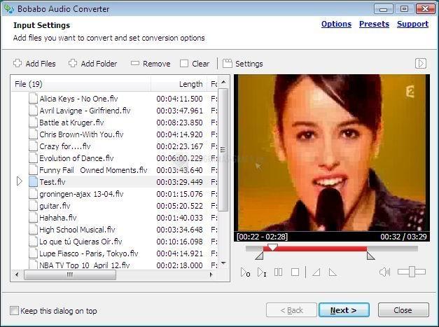 Pantallazo Bobabo Audio Converter