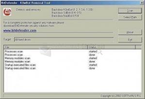 Pantallazo Bitdefender K0wbot Removal Tool