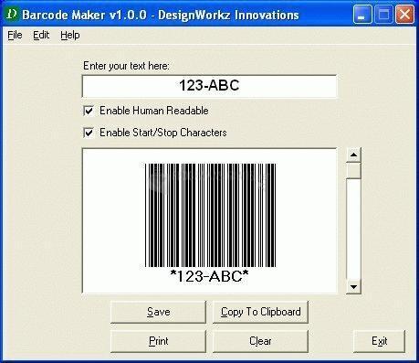 Pantallazo Barcode Maker