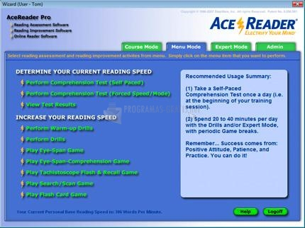 Pantallazo Ace Reader Pro