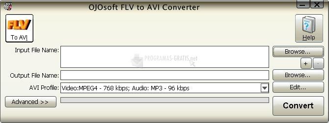 Pantallazo OJOsoft FLV to AVI Converter