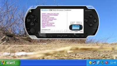 Pantallazo PSP Web Browser Simulator