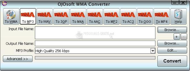 Pantallazo OJOsoft WMA Converter