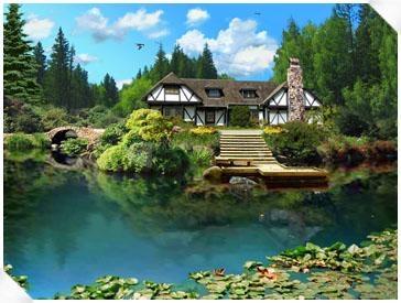 Pantallazo 3D Lake Cabin Screensaver
