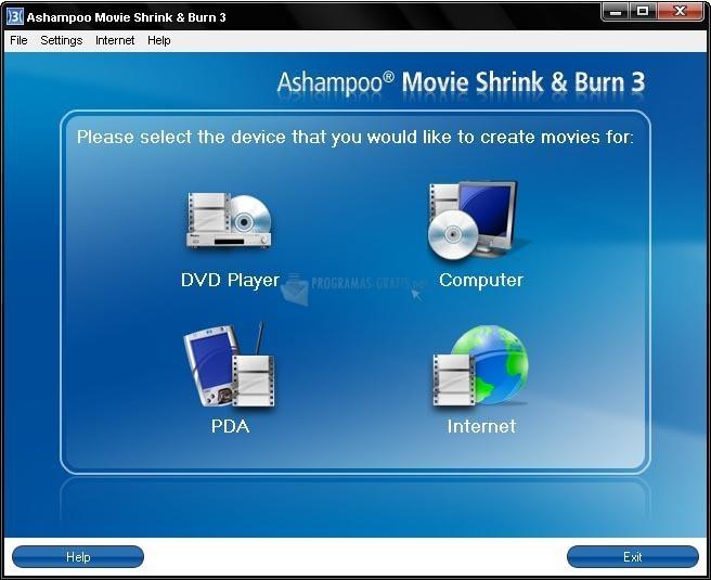 Pantallazo Ashampoo Movie Shrink & Burn