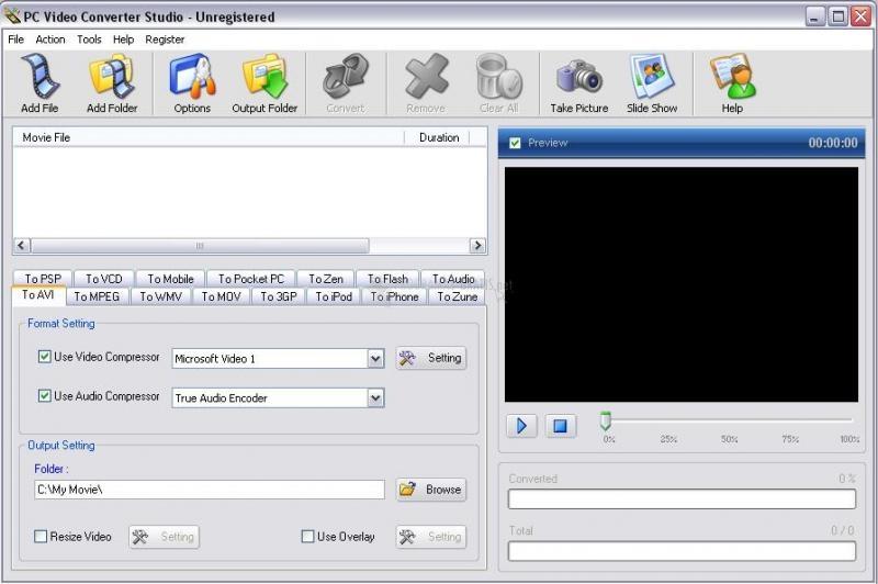 Pantallazo PC Video Converter Studio