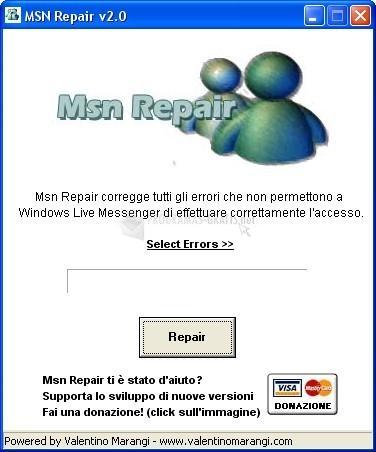 Pantallazo MSN Repair