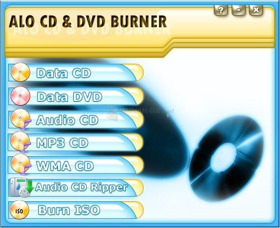 Pantallazo ALO CD and DVD Burner