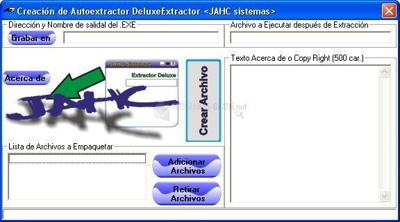 Pantallazo JAHC Autoextractor Deluxe