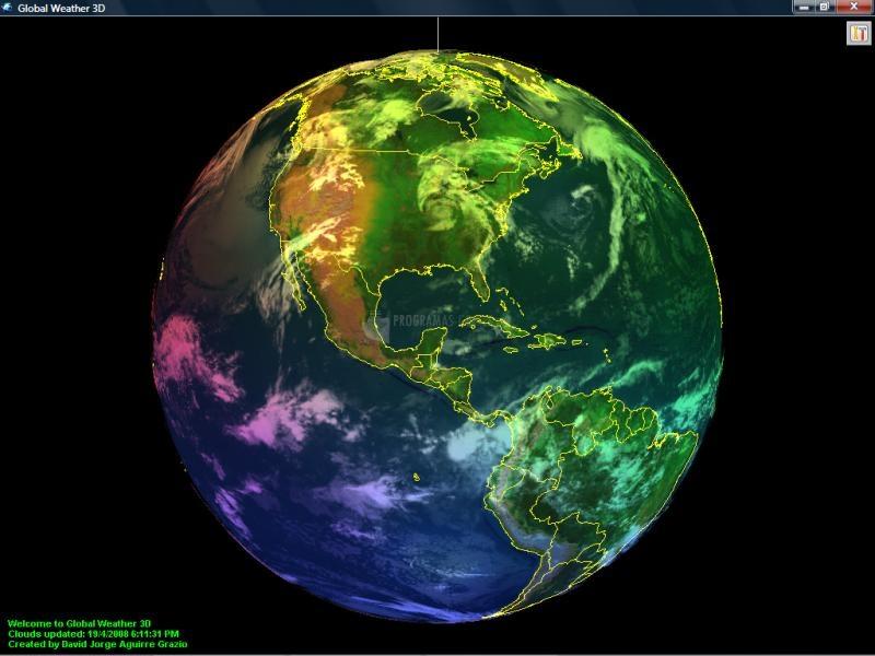 Pantallazo Global Weather 3D