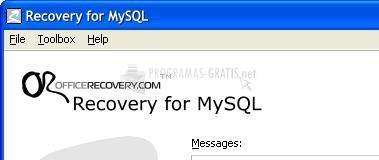 Pantallazo Recovery for MySQL