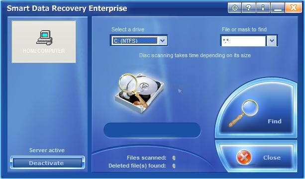 Pantallazo Smart Data Recovery Enterprise
