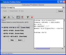 Pantallazo Calculus Problem Solver