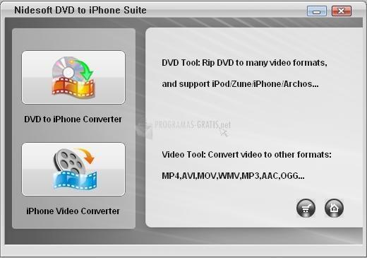 Pantallazo Nidesoft DVD to iPhone Suite