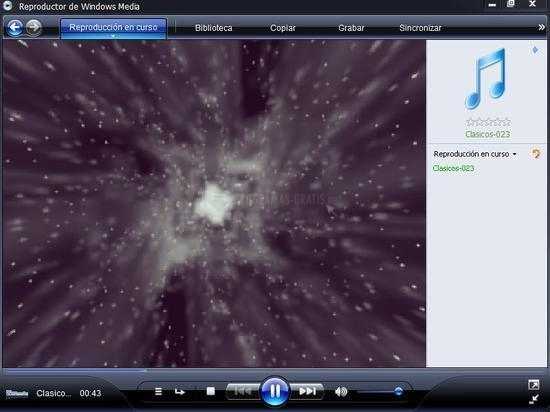 Pantallazo Windows Media Player XP