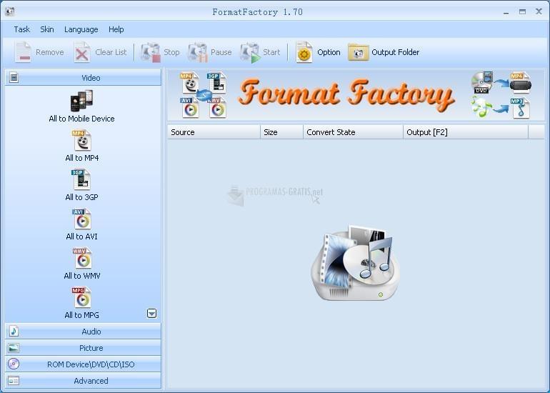 Pantallazo Format Factory