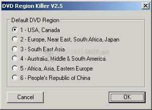 Pantallazo DVD Region Killer
